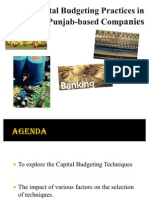 Capital Budgeting Analysis - Industries in Punjab