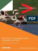 Accenture Cloud Application Migration Services