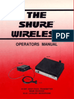 Shure Wl83 Microphone User Manual