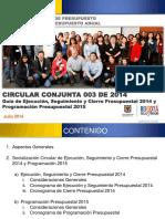 Circular Conjunta 003 de 2014_Cierre 2014 y Programacion Presupuestal 2015