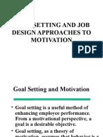Goals and Job Design