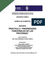Propiedades funcionales de las proteínas en la soja