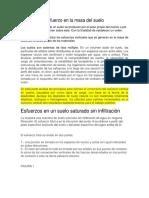 Esfuerzo en La Masa Del Suelo Filtracion y Sin Filtracion