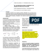 Ácidos y Bases. Valoración de Ácido Clorhídrico y de Hidróxido de Sodio Por Titulación