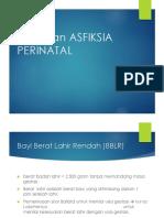 Bblr Dan Asfiksia Perinatal