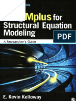 Kelloway, E. Kevin Using Mplus for Structural Equation Modeling a Researchers Guide