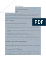 Basic Principles of a HVAC System
