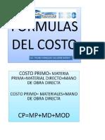 Formulas de Costos