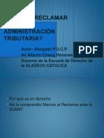 Sesion 13 Por Qué Reclamar Ante La Administracion Tributaria