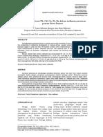 Faktor Kosentrasi Pb, CD, Cu, Ni, Zn Dalam Sedimen Perairan Pesisir Dumai