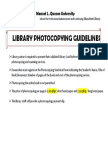 Photocopying Guidelines - Aug. 1, 2016