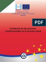 Incidencia de Las Acciones Constitucionales en El Proceso -1