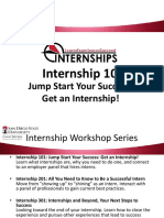 internship 101 workshop weebly