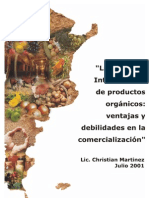 Ventajas y debilidades en la comercialización de Productos Orgánicos