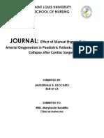Journal Oxygenation
