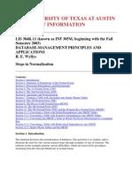 Steps in Normalization - RDBMS