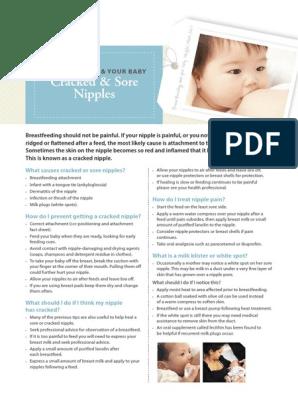 Cracked Nipples Pdf Breastfeeding Infants