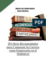 20 Libros Mercado Multinivel
