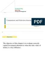 Chapter 3-Comparison and Selection Among Alternatives
