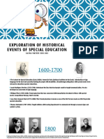 exploration of historical events of special education