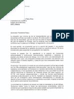 La carta de Puigdemont per respondre al requeriment de Rajoy