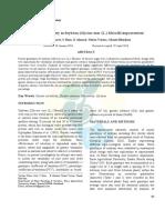 Study of variability in Soybean (Glycine max (L.) Merrill) improvement