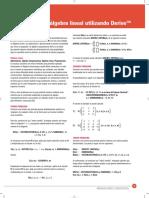 Algebra Lineal Con Derive