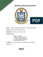 AMPLIFICADOR-CUASI-COMPLEMENTARIO