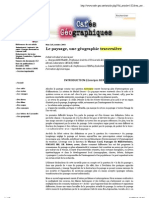 """Preview of """"Le paysage, une géographie traversière"""""""