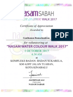 NASAM Volunteers Certificate