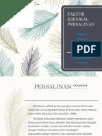 FAKTOR ESENSIAL PERSALINAN