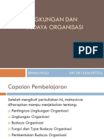 Lingkungan Dan Budaya Organisasi