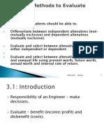 EEChap3 Investment Evaluation Methods