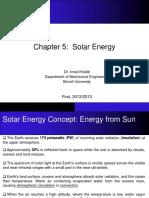 SOLAR ENERGY CHAP5