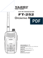 FT-252 Operators Manual
