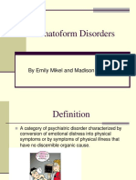 Somatoform Disorders Power Point