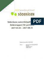 Delårsrapport Söderåsens Samordn.förbund 170101-170831