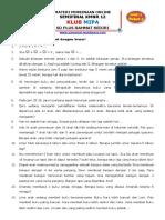 Pembinaan Online Semifinalis KMNR Level 1 (Kelas 1-2) - P4