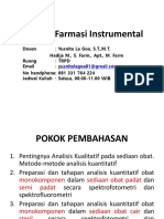 Analisis Farmasi Instrumental
