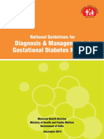 National Guidelines for Diagnosis & Management of Gestational Diabetes Mellitus