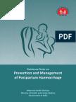 Guidance Note on Prevention & Management of Postpartum Haemorrhage