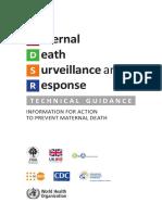 Maternal Death Surveillance Response WHO Guideline