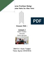 Laporan Pratikum Biolog Pembuatan Nata de Aloevera