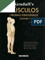 Kendalls Musculos Pruebas Funcionales Postura y Dolor