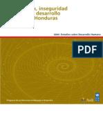 Delicuencia, inseguridad ciudadana y desarrollo humano en Honduras