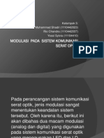 Modulasi Pada Sistem Komunikasi Serat Optik