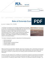 Role of Concrete Curing (PCA)