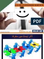 Fundmentals of Customer Service
