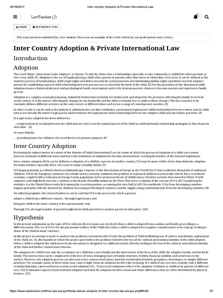 international adoption essays