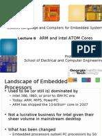 Detalhes dos processadores ARM e Atom